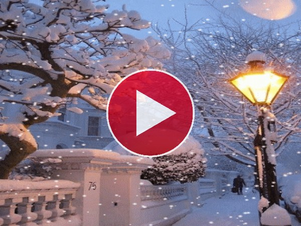 GIF: Nieve al anochecer