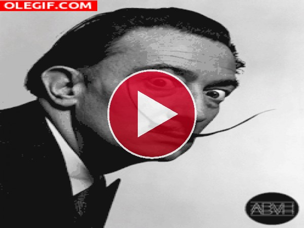 GIF: El bigote de Dalí tiene vida propia