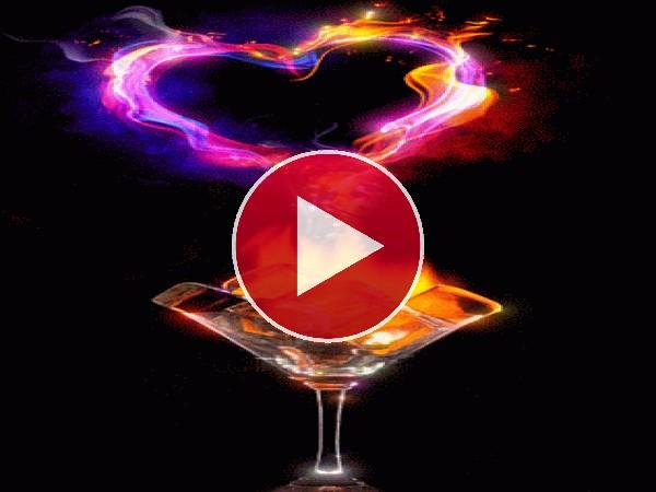 GIF: Corazón de fuego