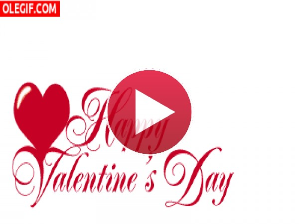 GIF: Felicitación para el Día de San Valentín