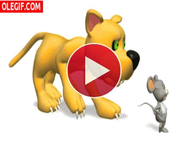 GIF: Ratón que te pilla el gato