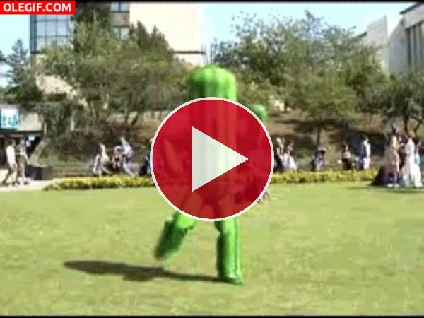 GIF: Un cactus bailarín