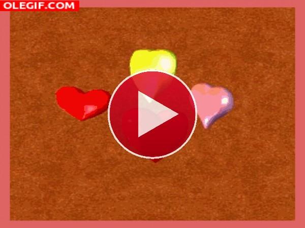 GIF: Corazones latiendo de amor