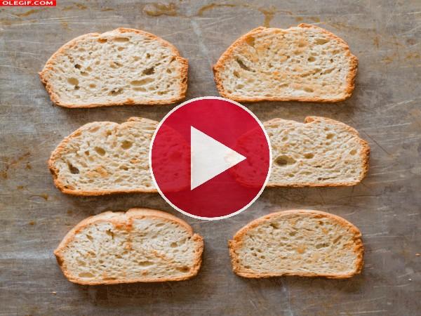 GIF: Montando unos sándwiches