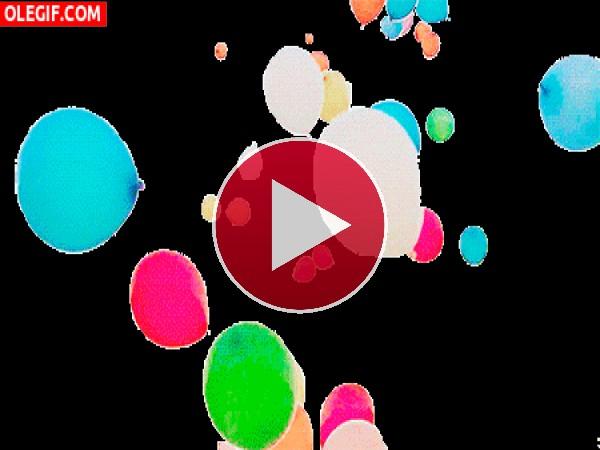 GIF: Globos de colores