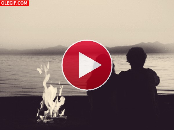 GIF: Pareja en la playa