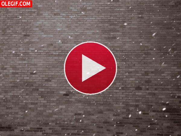 Copos de nieve junto a una pared