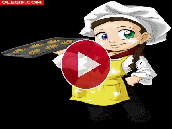 GIF: Cocinando galletas
