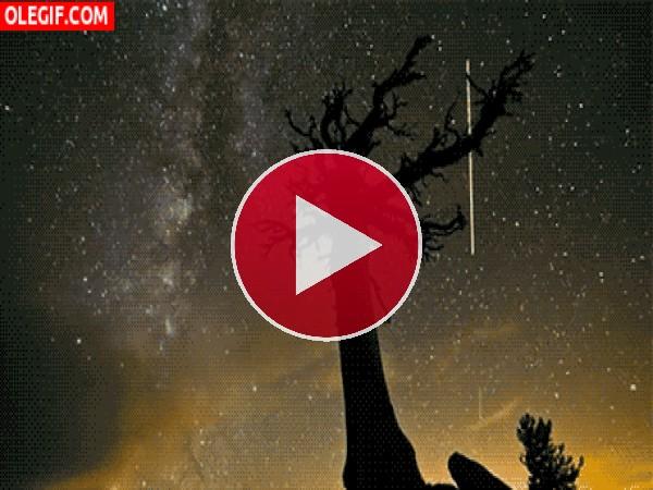 GIF: Hermoso cielo estrellado