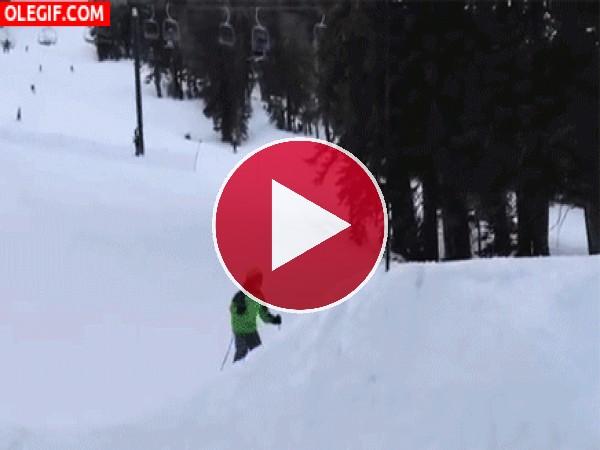 GIF: Voltereta en la nieve