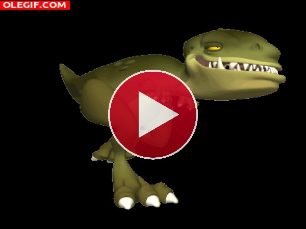 GIF: Este dinosaurio tiene sueño