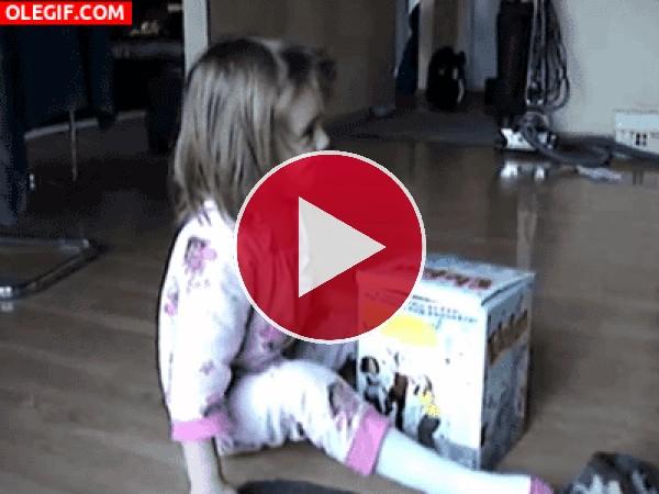 GIF: Jugando con el gato