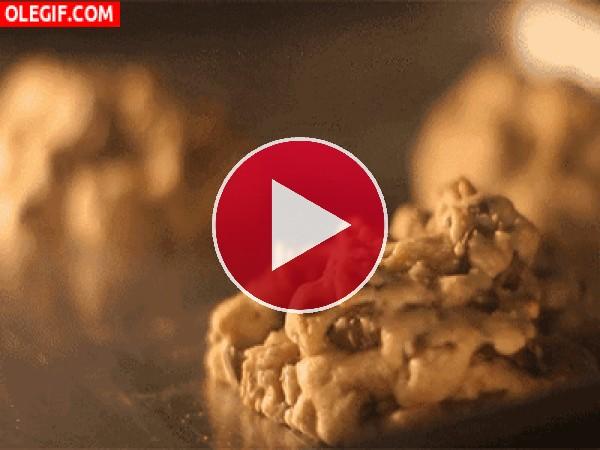 GIF: Horneando unas cookies