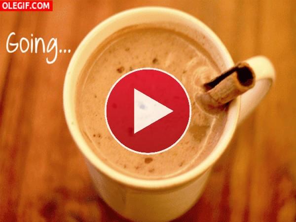 Chocolate a la taza con canela