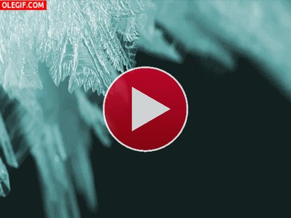 Formación de cristales de hielo