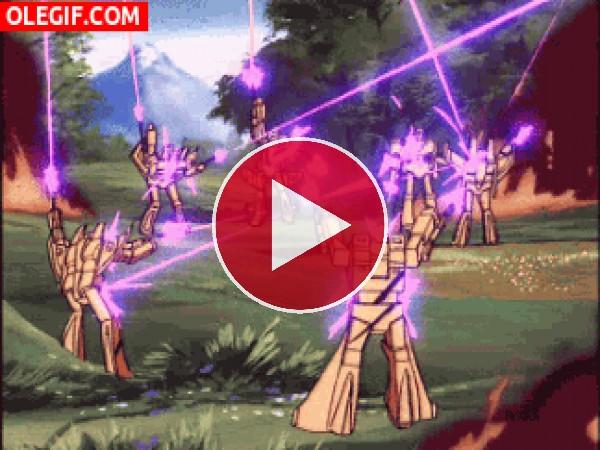 GIF: Transformers electrocutados