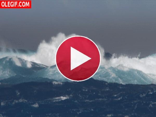 GIF: Oleaje en el mar