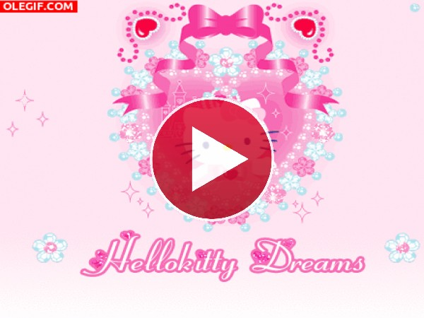 GIF: Soñando con Hello Kitty
