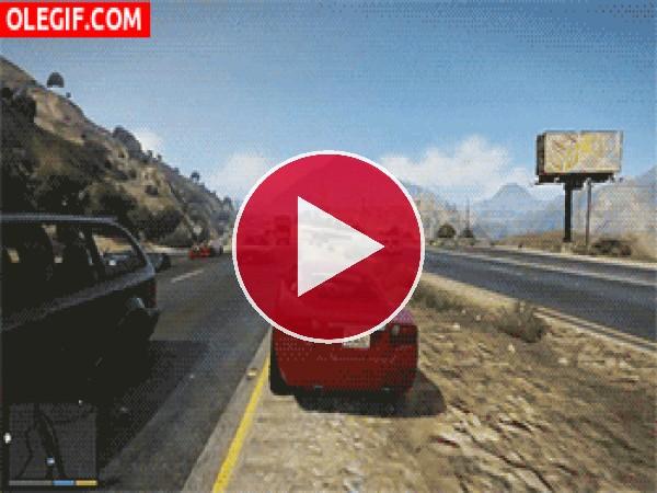 GIF: Conducción temeraria en GTA V