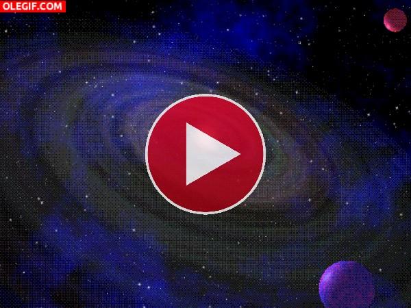 El movimiento de una galaxia