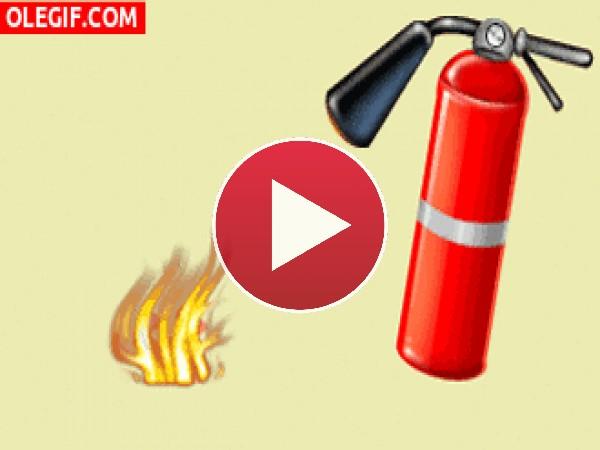 GIF: Apagando el fuego