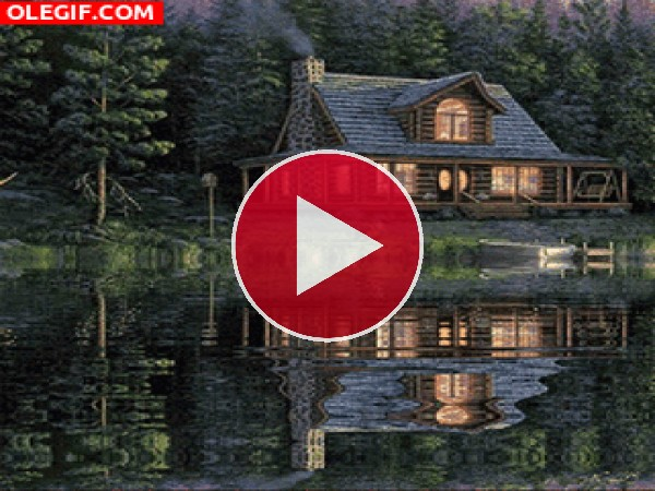 GIF: Cabaña junto al lago