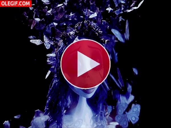 GIF: Mariposas sobre la Novia Cadáver