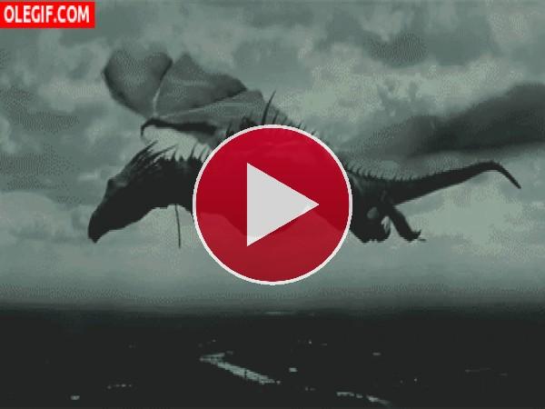 GIF: Dragón volando