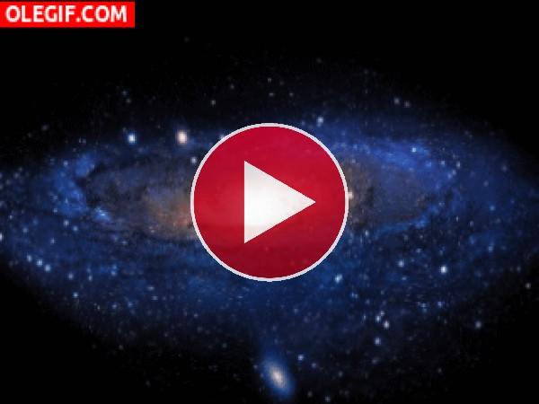 GIF: Galaxia girando