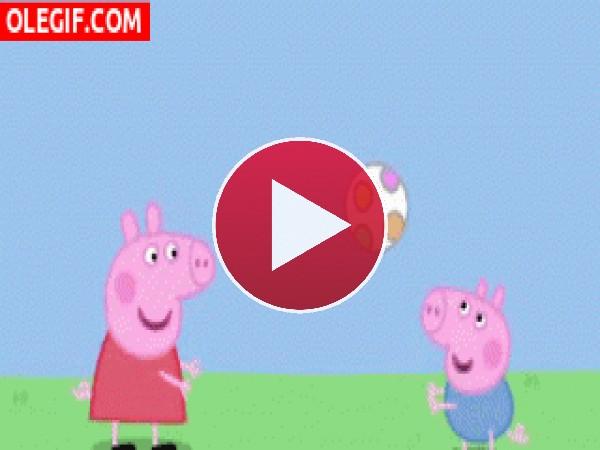 Peppa Pig jugando con George