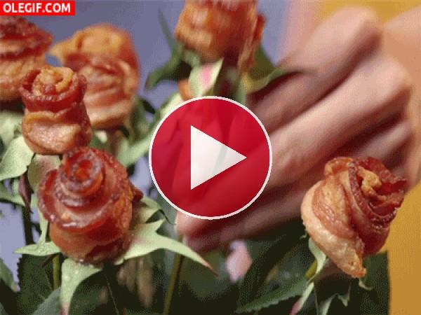 GIF: Rosas de beicon