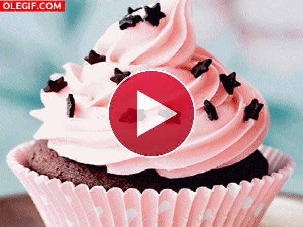 GIF: Unos ricos cupcakes
