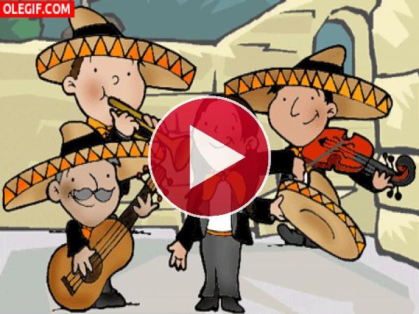 GIF: Unos divertidos mariachis