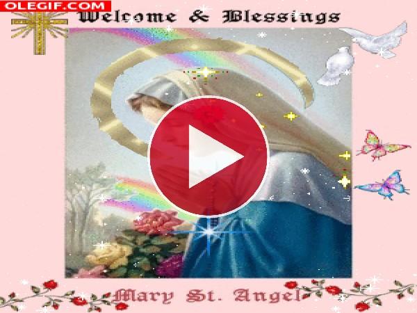 La hermosa Virgen Maria