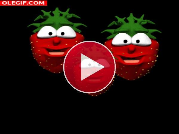 GIF: Fresas saltarinas