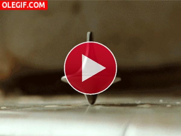 GIF: El giro de la peonza