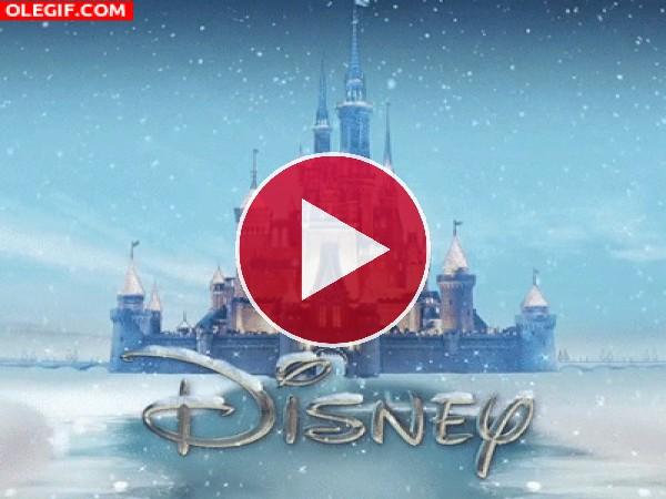 Nieve en el castillo Disney