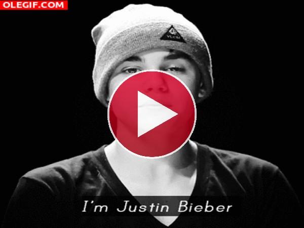 GIF: Yo soy Justin Bieber