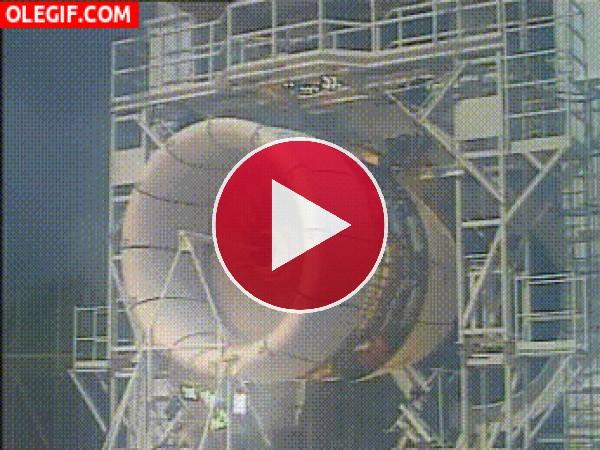 GIF: Esta turbina no pasó la prueba