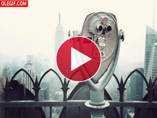 GIF: Viendo la ciudad de Nueva York