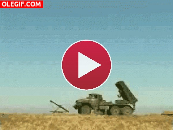 GIF: Lanzando misiles