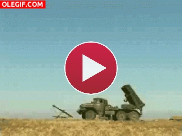 Lanzando misiles