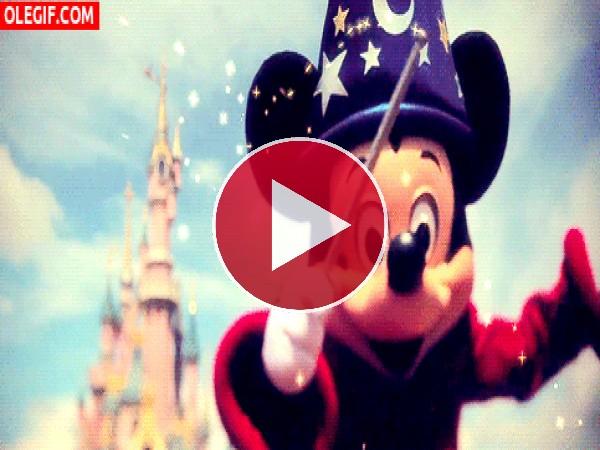 GIF: Mickey el gran mago