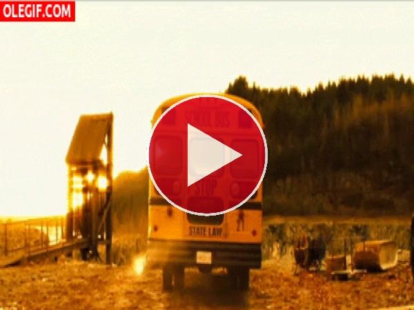 GIF: Se lo tragó la tierra