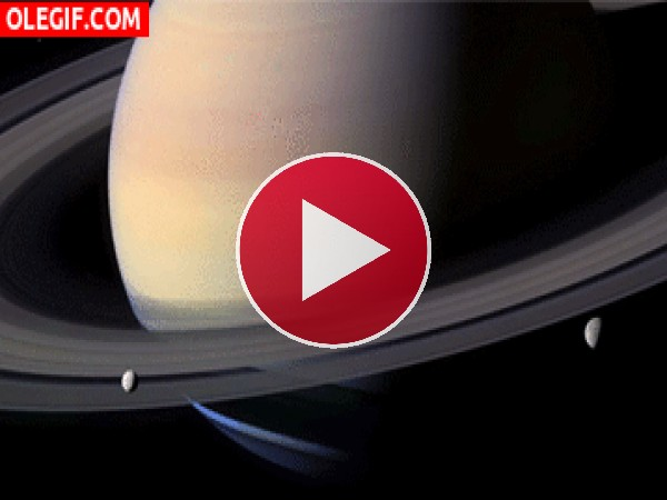 GIF: Vista de Saturno