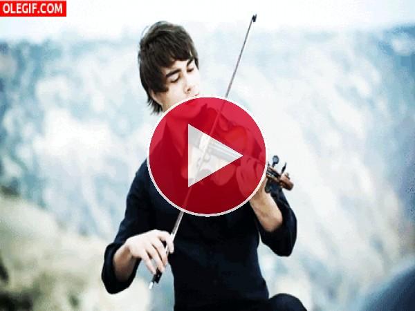 GIF: Alexander Rybak tocando el violín