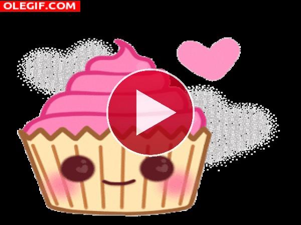 GIF: Me encantan los cupcakes