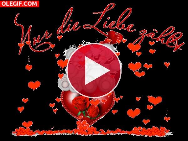 Bonita tarjeta de amor
