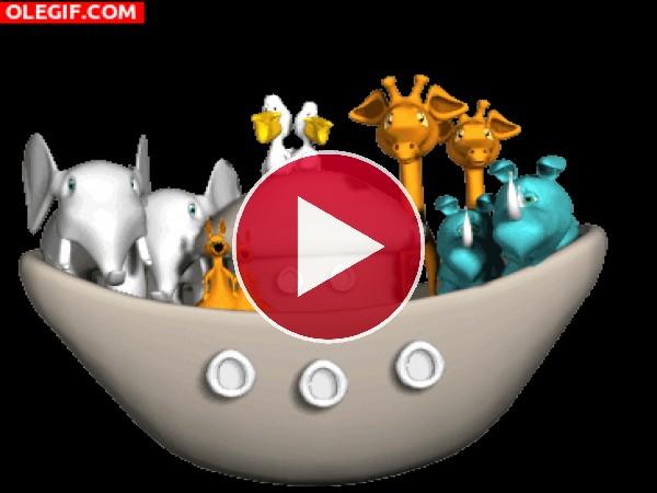 GIF: Animales en el Arca de Noe
