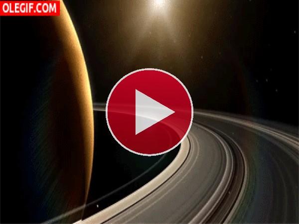 GIF: Sol frente a Saturno